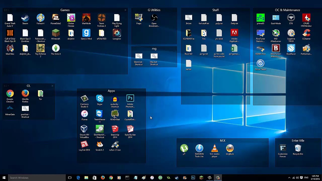 Organize Desktop Icons Into Folders