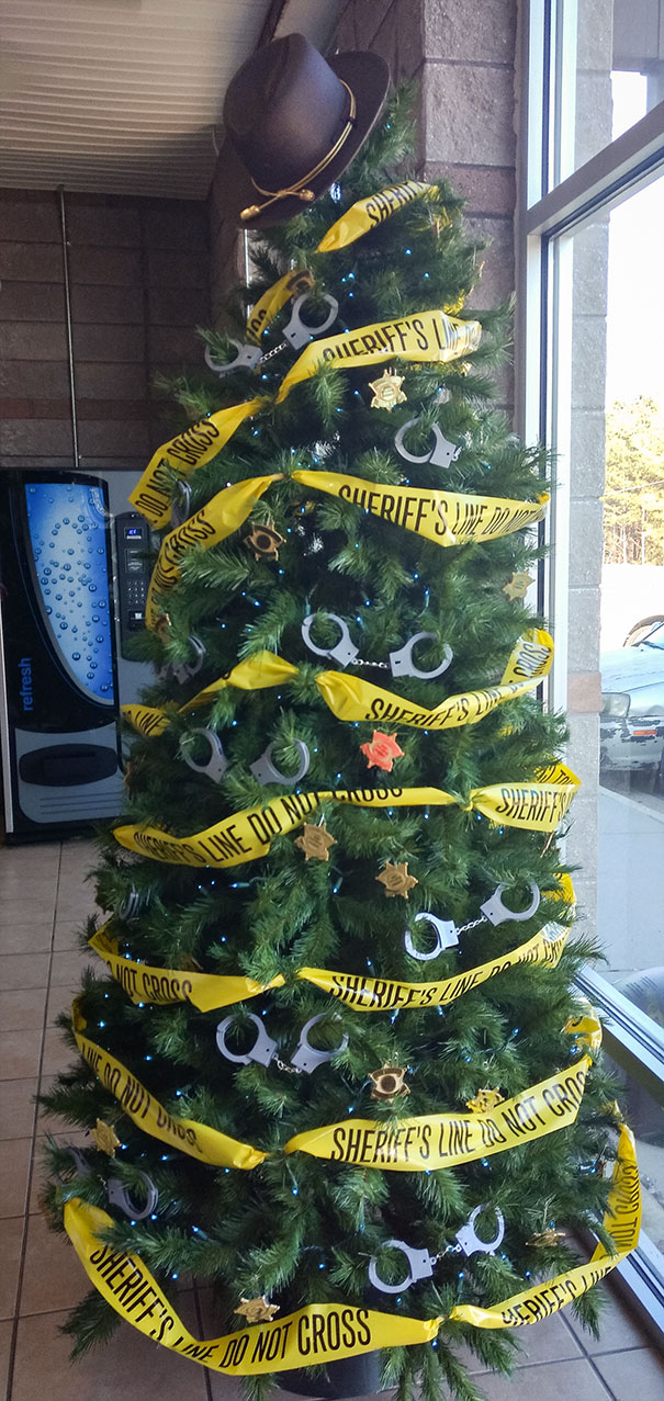 15. Christmas Tree At Local Sheriff's Office