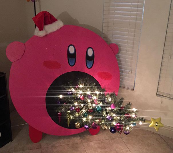 19. Kirby Sucking Up Our Christmas Tree