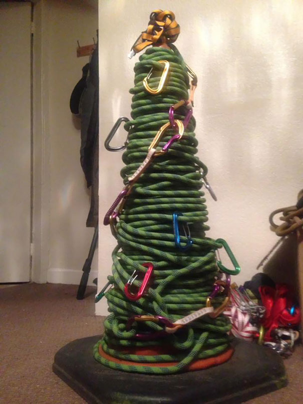 32. My Roommate Likes Climbing - This Is His Christmas Tree This Year
