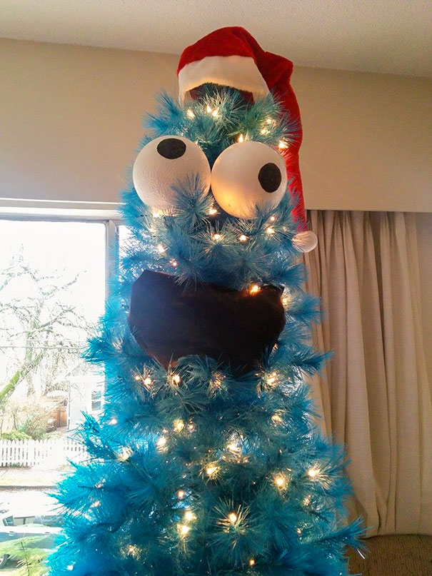 47. I Turned My New 7' Blue Christmas Tree Into Cookie Monster