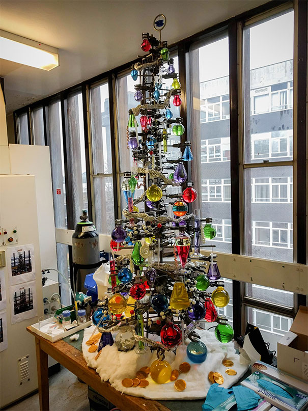 My Lab Has A New Christmas Tree...