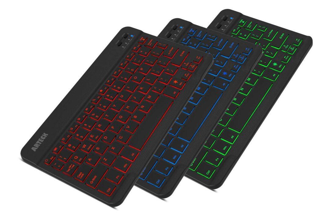 Arteck HB030B Portable Wireless Bluetooth Backlit Keyboard