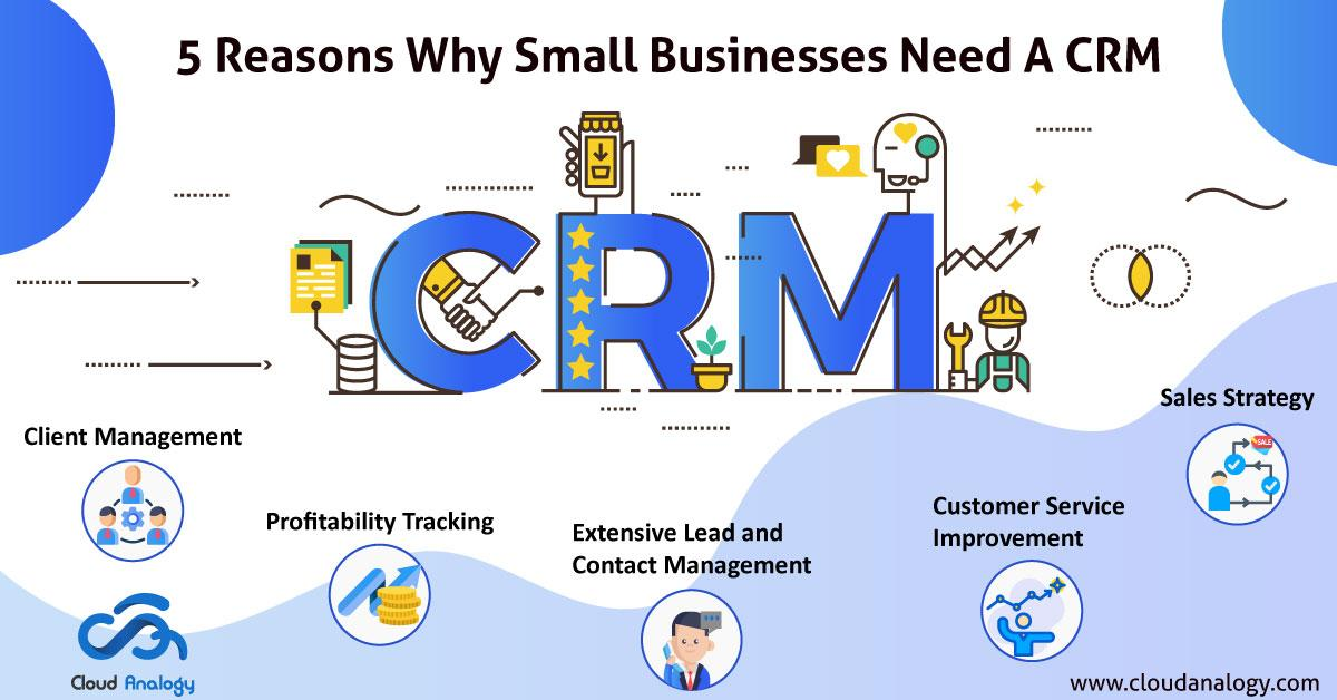 5 Reasons why small businesses need A CRM