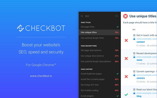 Checkbox: SEO, Web Speed & Security Tester