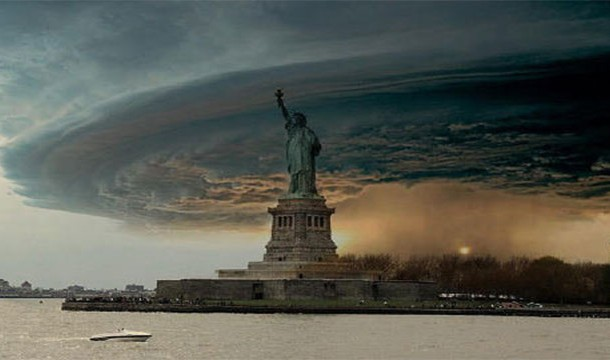 22. Statue of Liberty in hurricane Sandy