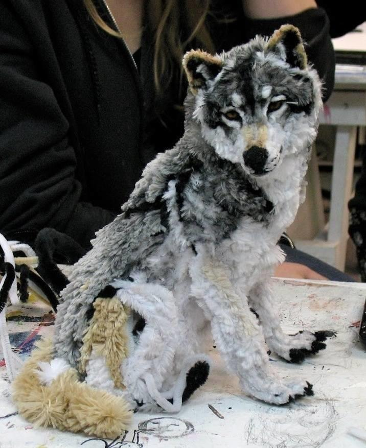 25. A Wolf Out Of Pipe Cleaners