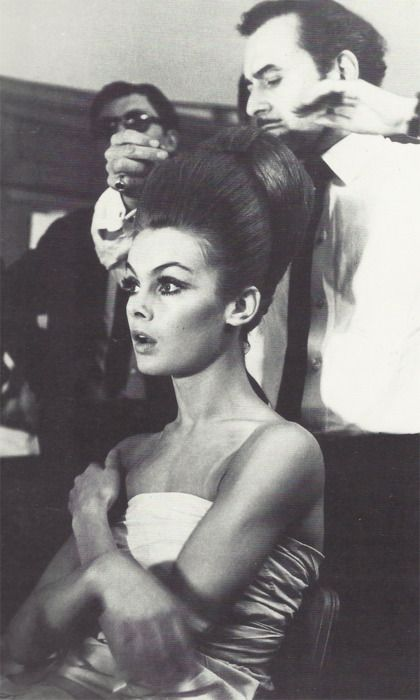 Celebrities 8 Jean-Shrimpton-1960s-with-French-hairdresser-Alexandre.