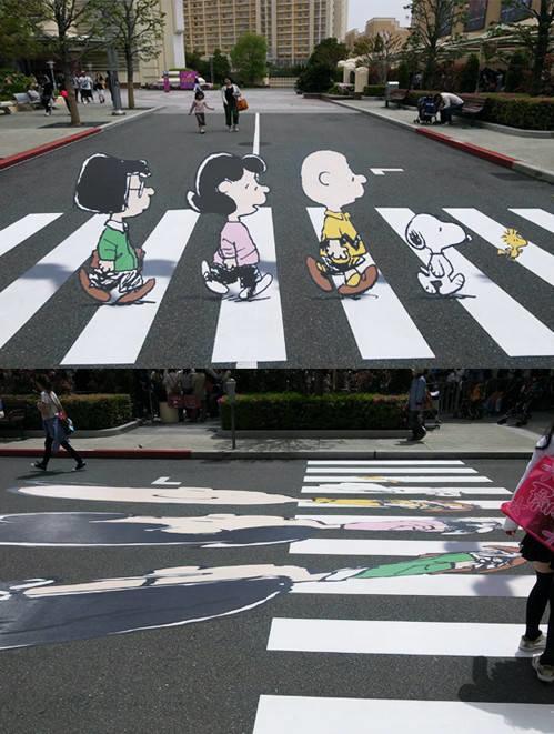 12. Brilliant Idea To Get Traffic Attention At A Crosswalk