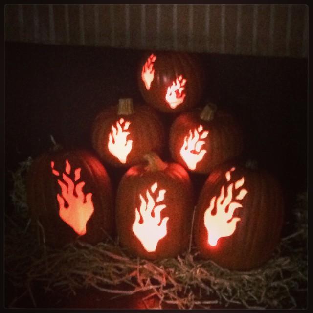 Flame Pumpkins