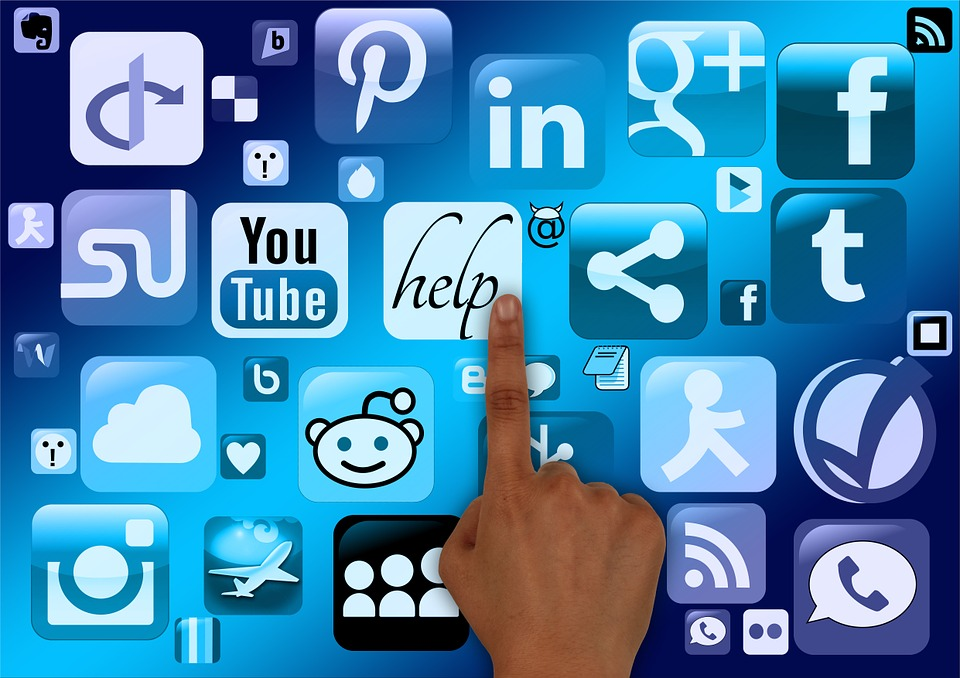 social media busines using finger