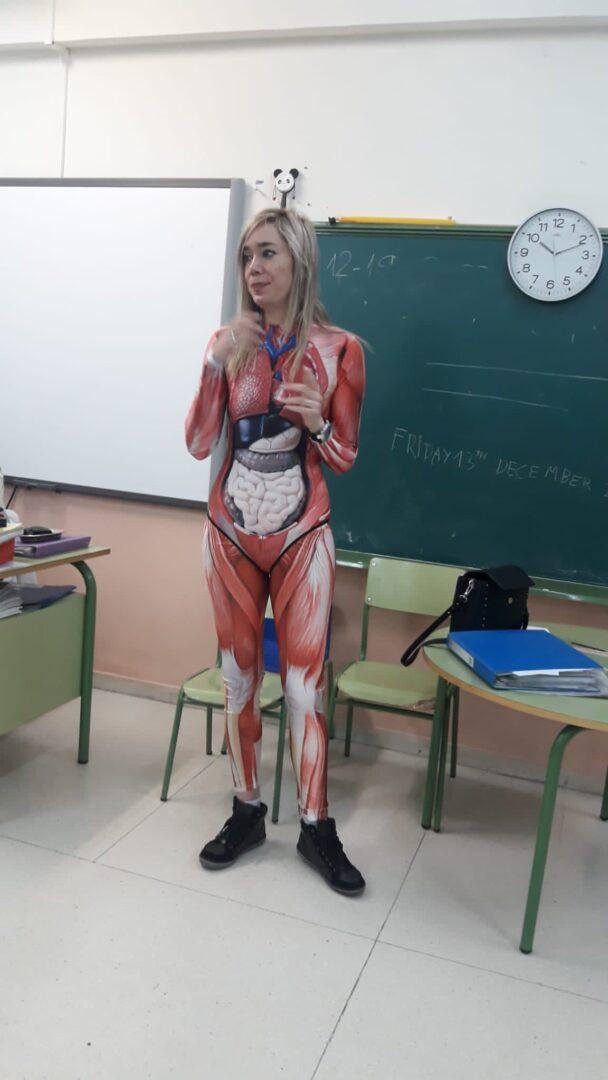anatomy bodysuit to make learning fun