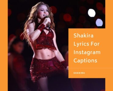 Shakira Lyrics For Instagram Captions