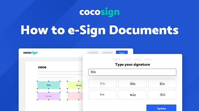 CocoSign: E-Signature Solutions