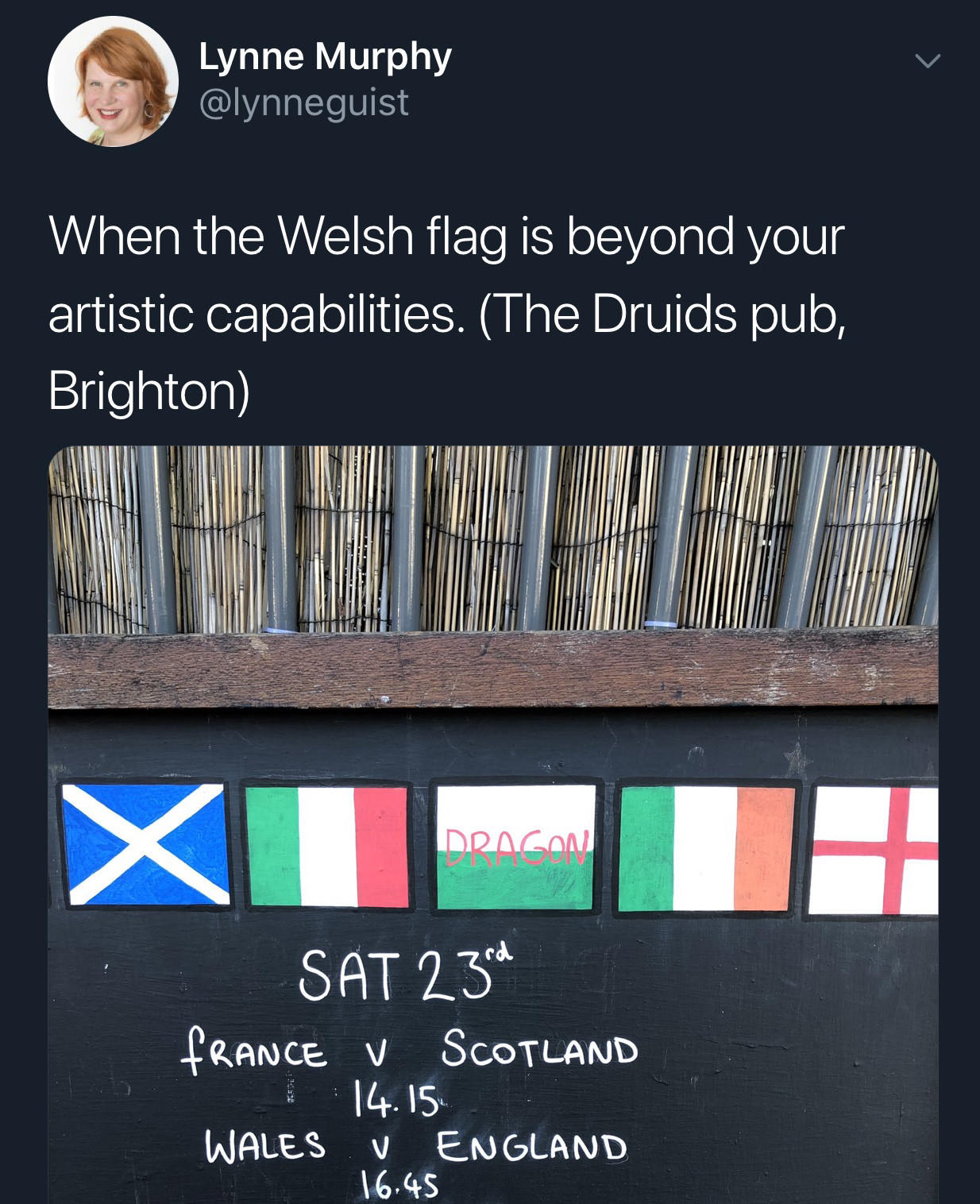 Painted Wales' Flag For Ya, Boss