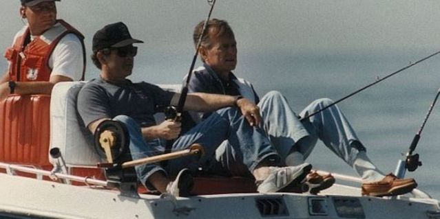 George H.W. Bush shares photo of his father