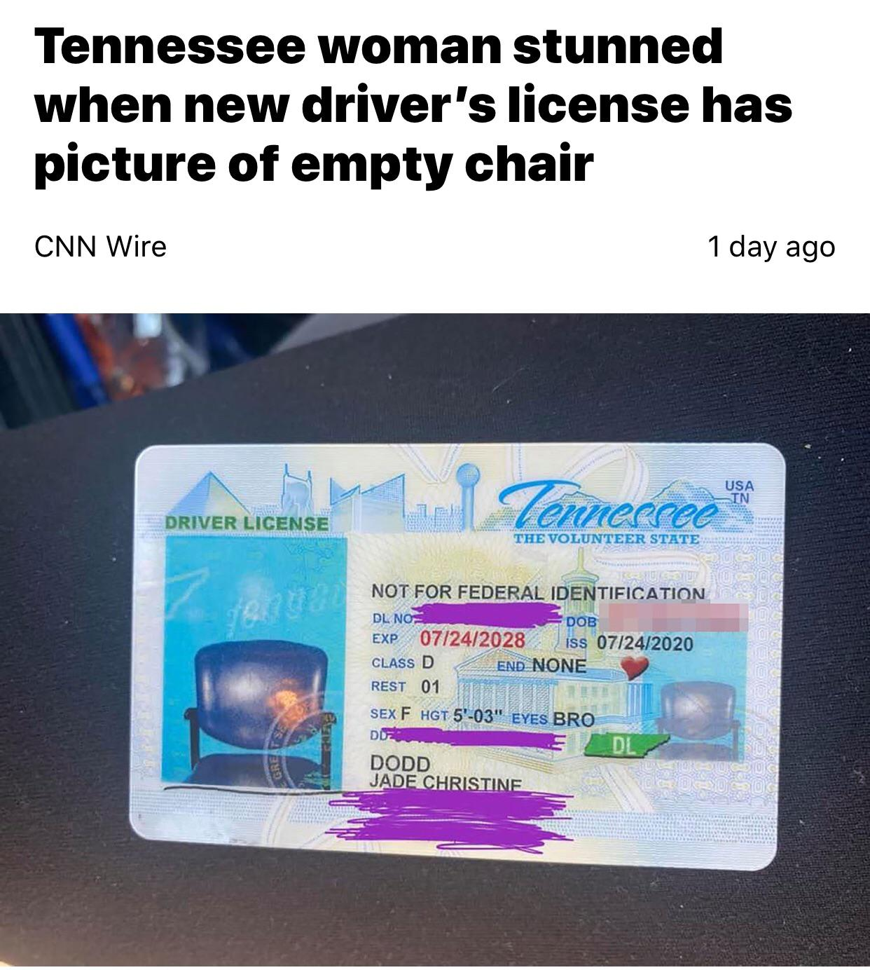 Took The Driver's License Photo Boss