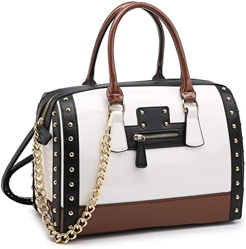 Shiny Patent Faux Leather Handbag