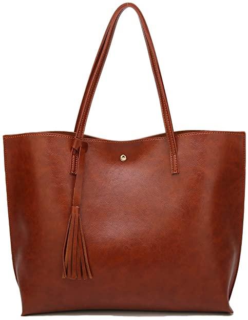 Soft Faux Leather Tote Shoulder Bag