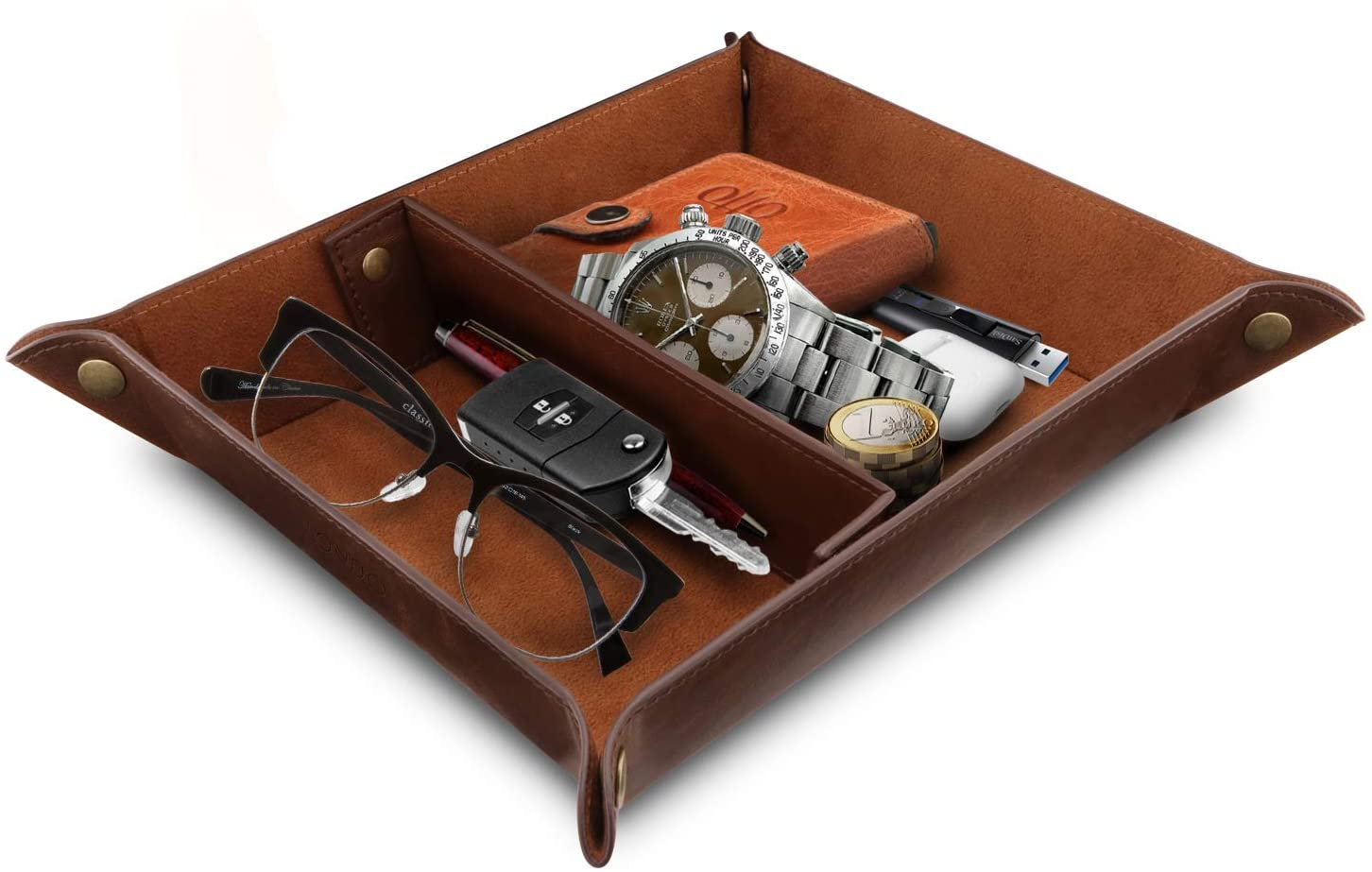 Leather Tray Organizer