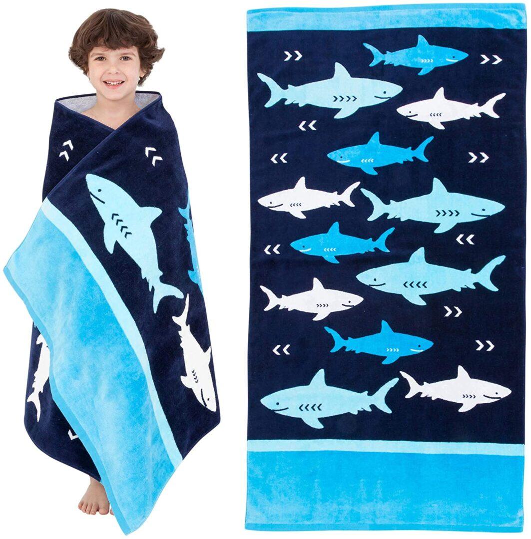 Lightweight Blue Shark Beach Towel