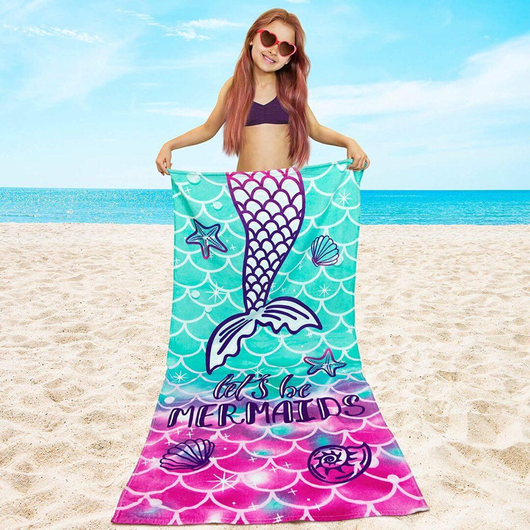 Softerry Mermaid Princess Beach Towel