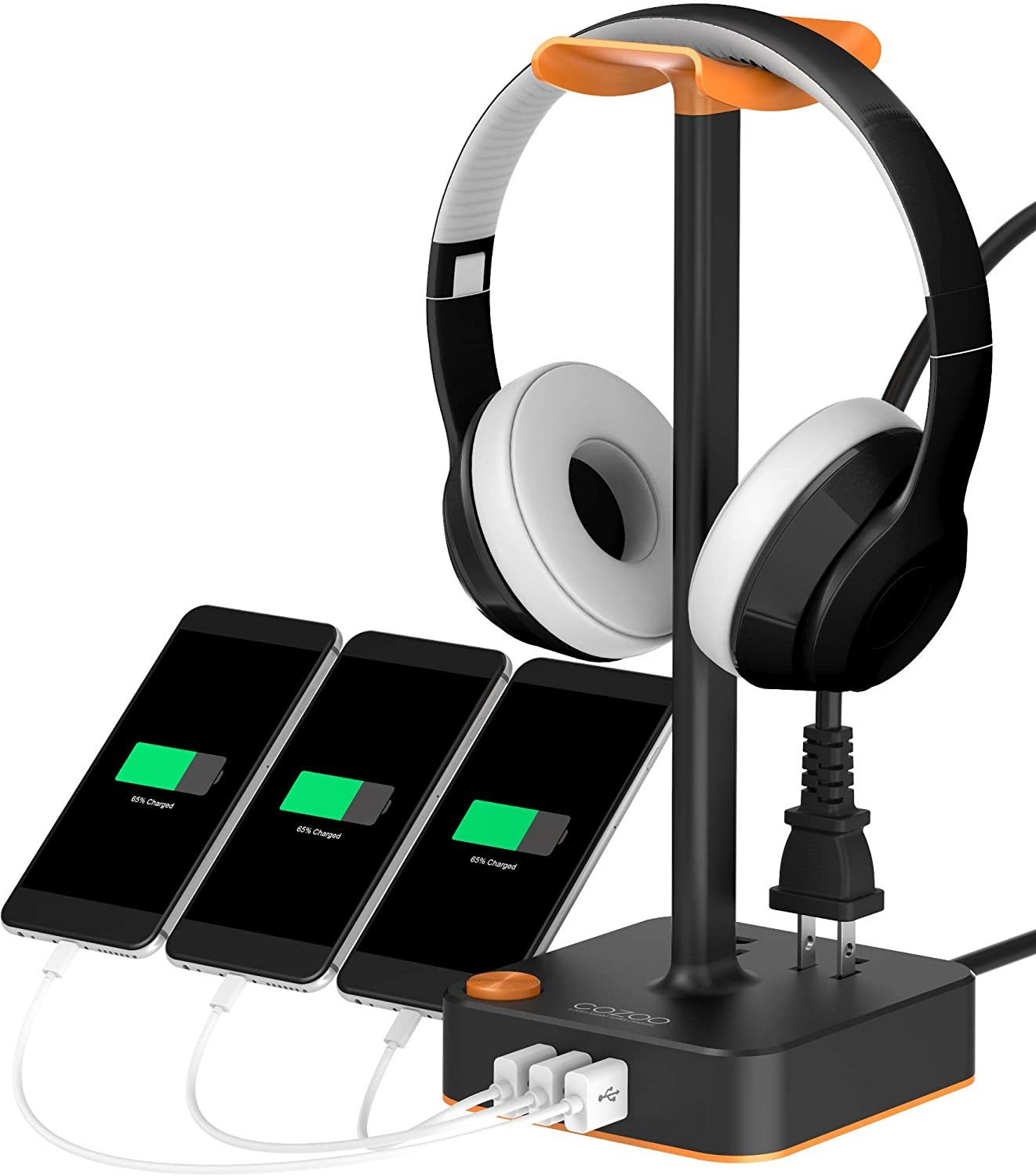Headphone Stand with USB Charge
